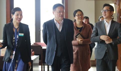厦门市政府领导、象屿集团总经理郑总参访天地健康城